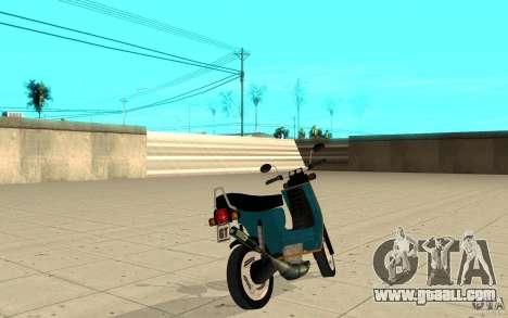 Simson SR50 tuned Big Bore 3 for GTA San Andreas back left view