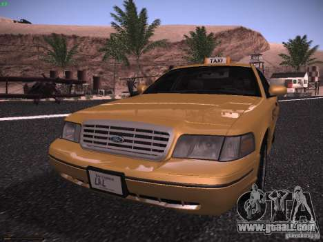 Ford Crown Victoria Taxi 2003 for GTA San Andreas left view