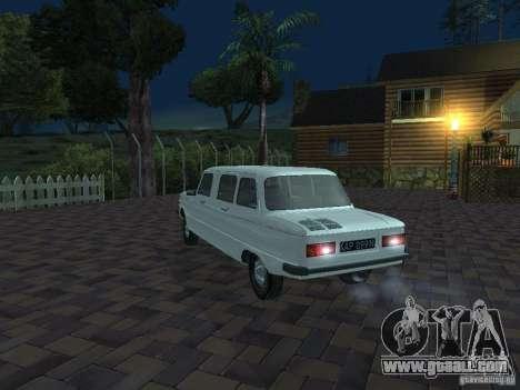 ZAZ 968 m Limousine for GTA San Andreas bottom view