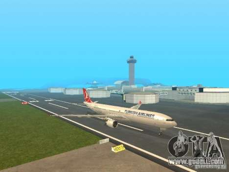 Airbus A330-300 Turkish Airlines for GTA San Andreas left view