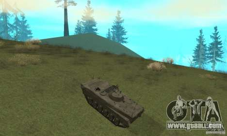 Bmp-1 Grey for GTA San Andreas back view