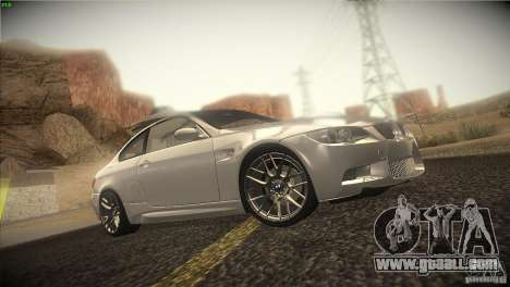 BMW M3 E92 for GTA San Andreas upper view