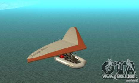 Wingy Dinghy (Crazy Flying Boat) for GTA San Andreas back view
