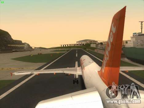 Airbus A320-214 EasyJet for GTA San Andreas engine