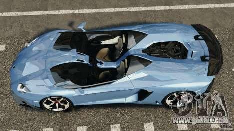 Lamborghini Aventador J 2012 for GTA 4 right view