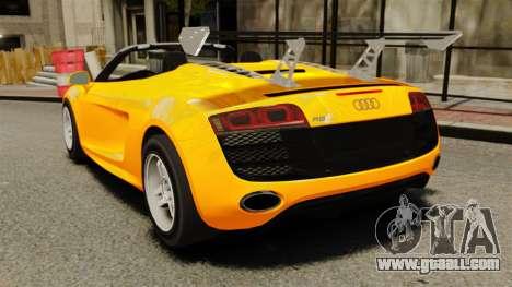 Audi R8 Spyder for GTA 4 back left view
