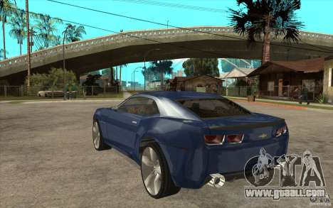 Chevrolet Camaro Concept Tunable for GTA San Andreas back left view