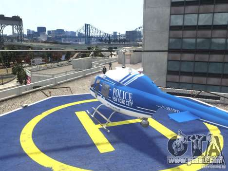 Bell 206 B - NYPD for GTA 4 back left view