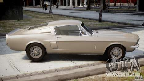 Shelby GT500 1967 for GTA 4 side view