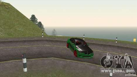 BMW M5 E60 Darius Balys for GTA San Andreas bottom view