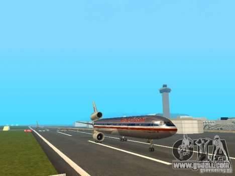 McDonell Douglas MD11 American Airlines for GTA San Andreas left view