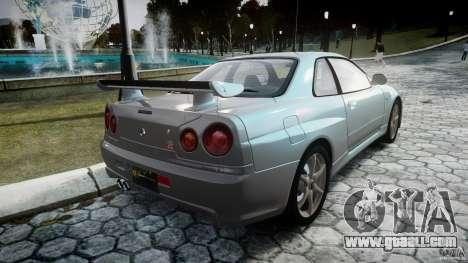 Nissan Skyline GT-R R34 2002 v1 for GTA 4 side view
