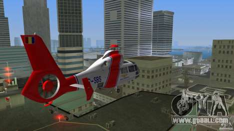 Eurocopter As-365N Dauphin II for GTA Vice City inner view