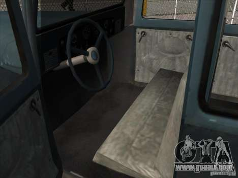 The vehicle of the second world war for GTA San Andreas inner view
