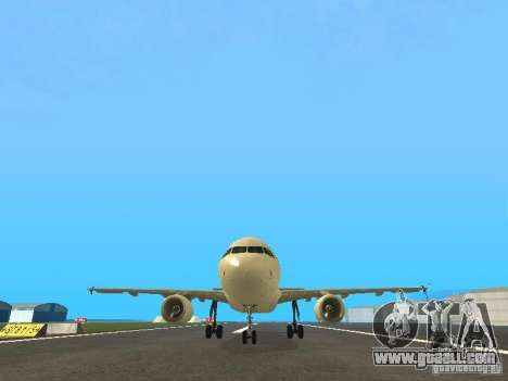 Airbus A319 Air Canada for GTA San Andreas side view