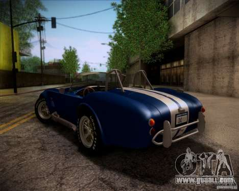 Shelby Cobra 427 Full Tunable for GTA San Andreas upper view