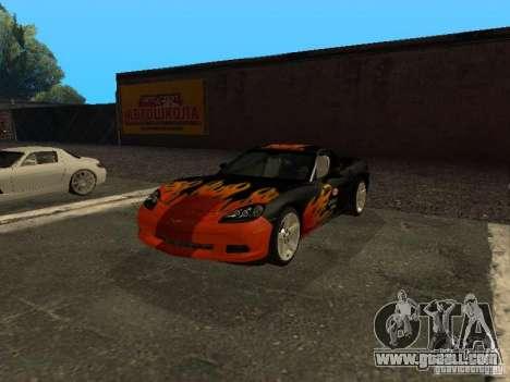 Chevrolet Corvette C6 for GTA San Andreas side view