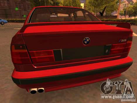 BMW M5 E34 for GTA San Andreas bottom view