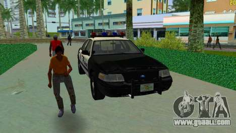 Ford Crown Victoria Police 2003 for GTA Vice City back view