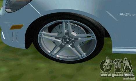 Mercedes-Benz E63 DPS for GTA San Andreas bottom view