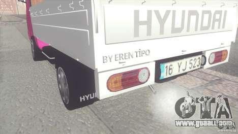Hyundai H100 Kamyonet for GTA San Andreas back left view