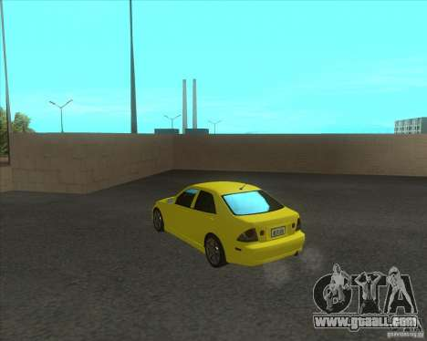 Lexus IS300 tuning for GTA San Andreas back left view