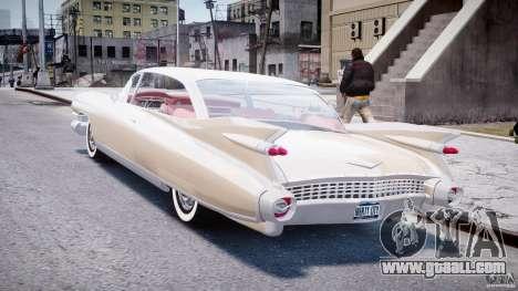Cadillac Eldorado 1959 (Lowered) for GTA 4 back left view