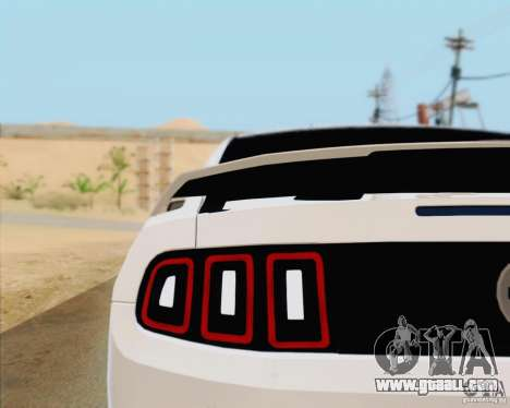 Ford Mustang Boss 302 2013 for GTA San Andreas inner view