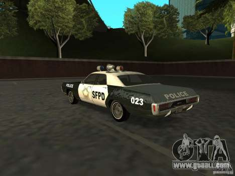 Dodge Polara Police 1971 for GTA San Andreas left view