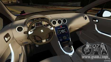 Peugeot 308 2007 for GTA 4 back view