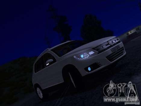 Volkswagen Tiguan 2.0 TDI 2012 for GTA San Andreas bottom view
