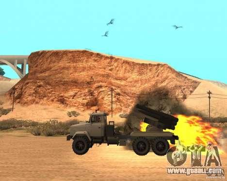 KrAZ-63211 JAMZ v. 1 for GTA San Andreas left view
