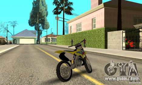 Suzuki RM250 for GTA San Andreas left view