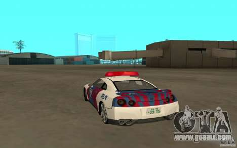 Nissan GT-R R35 Indonesia Police for GTA San Andreas left view