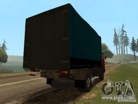 KAMAZ 5325 for GTA San Andreas back left view