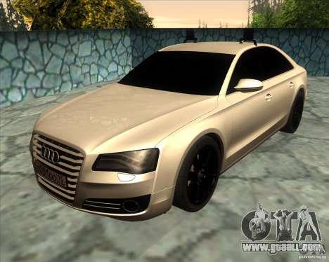 Audi A8 2010 v2.0 for GTA San Andreas