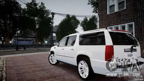 Cadillac Escalade ESV for GTA 4 left view