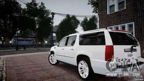 Cadillac Escalade ESV for GTA 4 left view