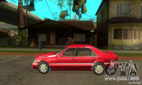 Mercedes-Benz S600 1999 for GTA San Andreas back left view