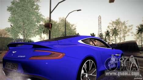 Aston Martin Vanquish V12 for GTA San Andreas inner view