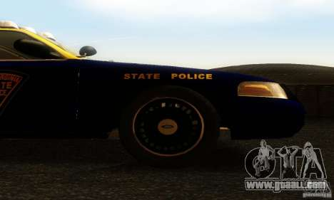 Ford Crown Victoria West Virginia Police for GTA San Andreas right view