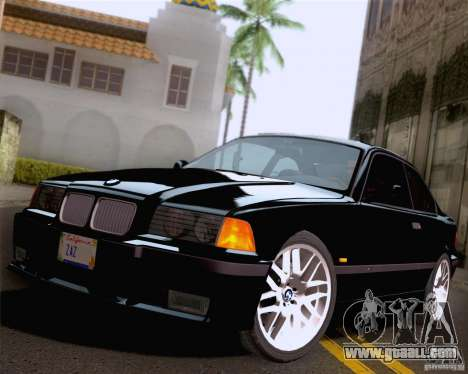 BMW M3 E36 New Wheels for GTA San Andreas bottom view