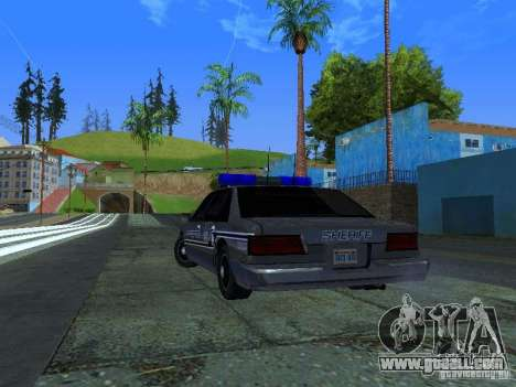 Lumpkin Country Sheriffs Office for GTA San Andreas back left view