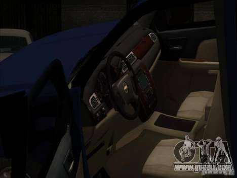 Chevrolet Silverado 1500 for GTA San Andreas inner view