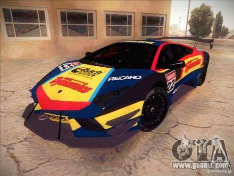 Lamborghini Reventon GT-R for GTA San Andreas inner view