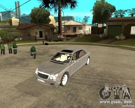 Maybach 62 for GTA San Andreas