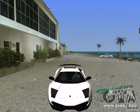 Lamborghini Murcielago LP670-4 SV for GTA Vice City left view
