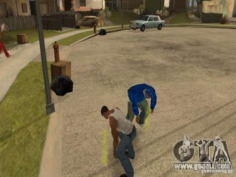 You can sit down, smoke, drink whiskey, vomiting for GTA San Andreas forth screenshot