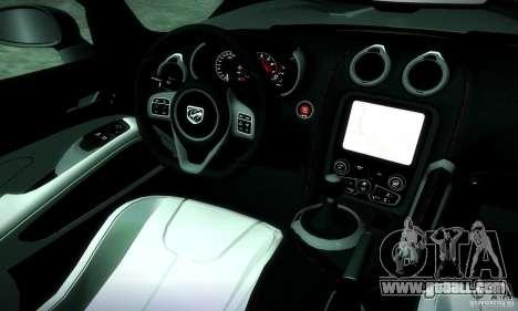 Dodge Viper SRT  GTS for GTA San Andreas inner view