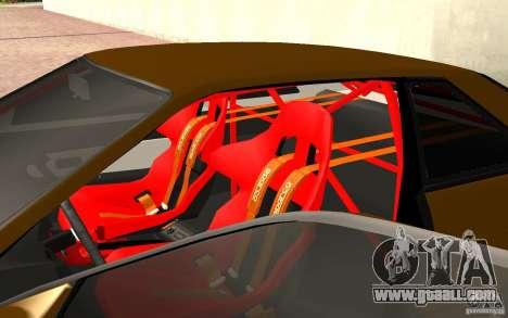 Nissan Silvia S13 Crash Construction for GTA San Andreas back view